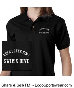 Rock Creek FINS Ringspun Cotton Pique Short-Sleeve Polo (YOUTH) Design Zoom