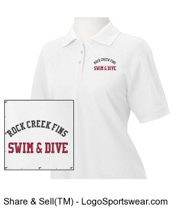 Rock Creek FINS Pima Pique Short-Sleeve Polo (WOMENS) Design Zoom