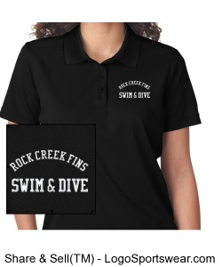 Rock Creek FINS Cool and Dry Mesh Pique Polo (WOMENS) Design Zoom